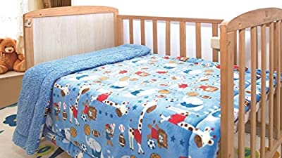"Bedding Haus Kids Throw Blanket - Super Plush Soft Warm Blanket Sherpa Backing - 40"" x 50"" - Blanket for Kids Toddlers Baby Boys Girls - Multicolor - Fun Prints"