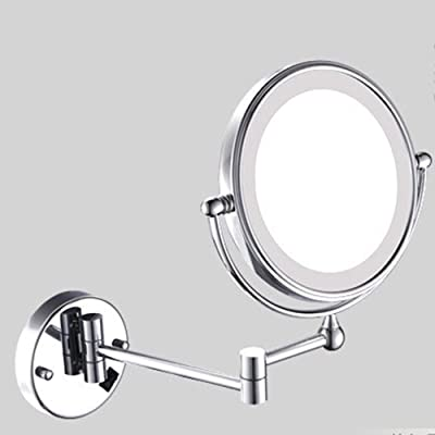 Metcandy Double-Sided Wall-Mounted Vanity Mirror Can Be Enlarged to Expand The Telescopic