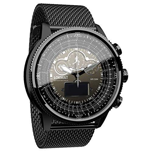 Romacci MOKA Smart Watch Sport Band Fitness Tracker Freqüência cardíaca Calorias Sensor BT Pedômetros Lembrete de informações Relógio digital masculino para iOS Android Phone Smartband