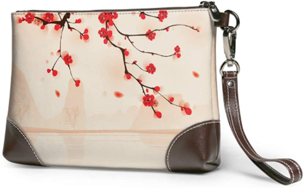 Wristlet Handbag Oriental Style Ranking TOP16 Painting Above Leat Plum Ranking integrated 1st place Blossom