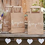 Ginger Ray- Wedding Recovery Kit Bags 5 Pack País rústico, Color natural (CW-238)