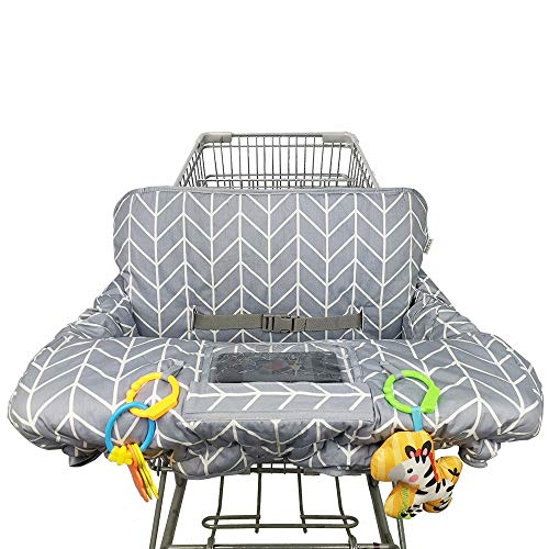 Shopping Cart Cover for Baby Cotton High Chair Cover, Reversible, Machine...