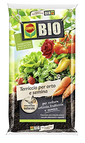 COMPO BIO Terriccio per orto e semina, Per colture orticole, frutticole e semina, 80 l