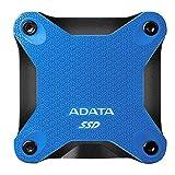 ADATA SD600Q 480GB Ultra-Speed Portable Durable External SSD - Up to 440MB/s - 3D NAND USB3.2 Blue (ASD600Q-480GU31-CBK)