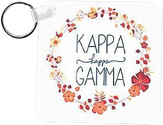 Kappa Kappa Gamma Floral Wreath Keychain