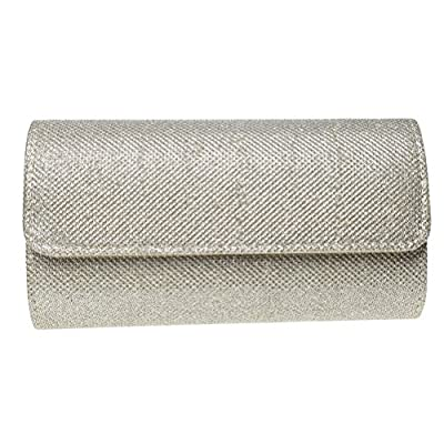 Color Scissor Evening Clutch, Womens Dazzling Hard Case Flap Clutch Purses For Wedding And Party