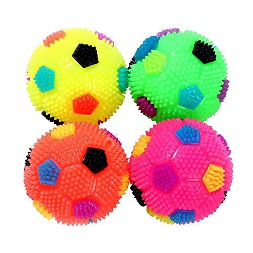 niawmwdt accessoires voor dieren 1 stuks kleur willekeurig knipperend licht hoge trillingskracht pet egelbal puppy speelgoed hond accessoire cadeau, S, Willekeurige kleur