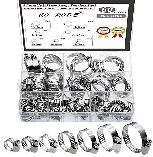Co-Rode Adjustable 60PCS Worm Gear Kit