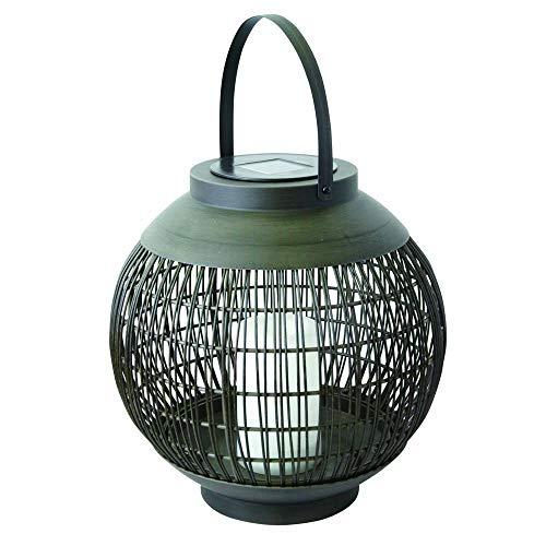 Lámpara solar LED para colgar o colocar de pie, efecto de fuego, IP44, color blanco