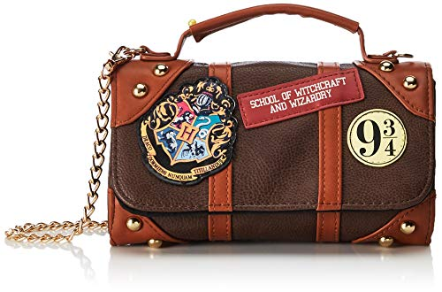 HARRY POTTER Hogwarts Express 9 3/4 Bolso bandolera 18 centimeters Marrón (Brown)
