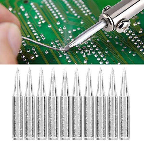 Punta de hierro para soldar, punta de hierro para soldar libre y ecológica resistente, para componentes electrónicos grandes almohadillas de soldadura