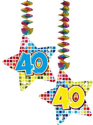 2 x Plafond Décoration * anniversaire 40 ans * pour anniversaires d'enfants/enfants/60840//Birthday Party suspendues décoration Hanging Deco Nombre Nombre chiffres