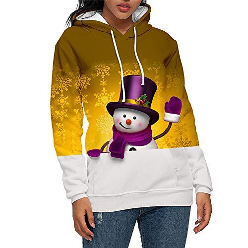 Onemopie Unisex Pullover Hoodies for Women Men 3D Christmas Print Hooded Sweatshirts Blouse Tops Shirt,2020 Casual Long Sleeve Couples Sweat Shirts Outwear Coats