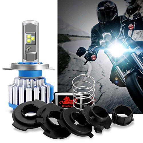 WinPower - H4/Ba20d/H6M/P15D25-3- Kit Conversión Bombillas Luces Delanteras Motocicleta LED CREE Hi/Lo...