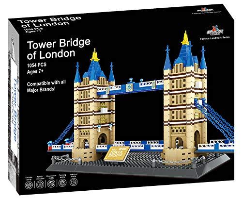 Apostrophe Games London's Tower Bridge Baustein gesetzt - 1054 Stück