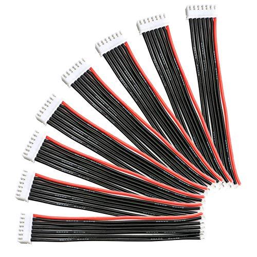 YIXISI 10 Stücke JST-XH 6S 15cm Batterie Balance Ladegerät 22AWG Silikon Kabel Draht, JST-XH Stecker Adapter Stecker für RC Lipo Batterie