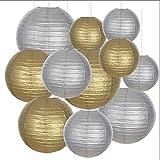 Luces de linterna 20 unids / lote 6 '8' 10' 12 pulgadas blanca de papel chino bola de bola de bola...