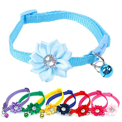 LxwSin Adjustable Cat Collar with Bell, 8pcs Cat Collars Quick Release with...