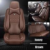 0beilita Fundas Asientos Coche Universales para Honda Accord 2018 2003 2009 2007 2012 Civic 2006 2011 CRV 2020 CR-V Ridgeline Accesorios Coche, Lujo marrón