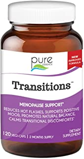 Transitions by Pure Essence Labs - Natural Menopause Relief Supplement - Promotes Hormone Balance, Reduces Hot Flashes, Mo...