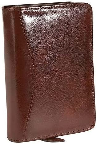 Scully Italian Leather 6-Ring Zip - Mahogany Weekly New product! New type Organizer Sale