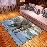 LGXINGLIyidian Alfombra Hermoso Mundo Animal Natural Alfombra Suave Antideslizante De Decoración del Hogar De Impresión 3D T-2948E 120X180Cm