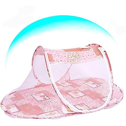 Kpresepe - Zanzariera pieghevole per bambini, con zanzariera, zanzariera portatile con cerniera, lettino da viaggio per bambini con zanzariera