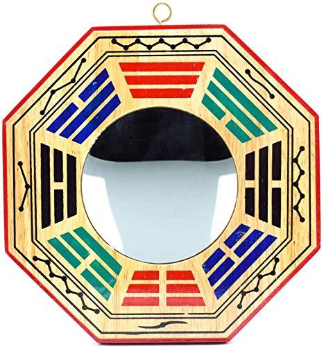 4 Inch Chinese Bagua Mirror Feng Shui Wood Mirror...