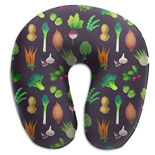 Almohada en Forma de U, Cuello, Verduras Verdes, Viaje, Almohada Multifuncional, Coche, avión