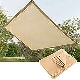 Toldo Vela de Sombra Rectángulo Toldo Parasol 90% Bloque UV Toldo Protector Solar por Exterior Jardín Playa Patio Pabellón, Personalizable ALGFree (Color : Beige, Size : 4x8m)
