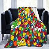 M-and-M'S Blankets Throws for Couch, Super Soft Cozy Lightweight Plush Throw Blanket for Adults Kids,60'x50'(Throw)