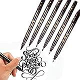 Bolígrafos de tinta de caligrafía, 8 tamaños para escribir a mano...