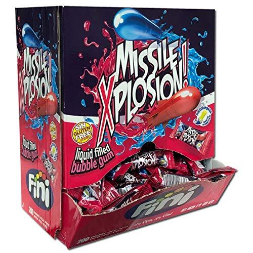 1 Box Fini Missile Xplosion Kaugummi 200er Kaugummi Bonbons einzeln verpackt