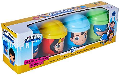Massa de Modelar DC Super Friends Super-Man, 4 Potes, Sunny