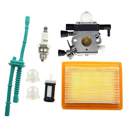 Carbhub MM55 Carburetor for Stihl MM55 MM55C Tiller Multi Engine Replace 46011200600 Zama C1QS202 C1QS202A Carb with Air Filter Fuel Line Kit