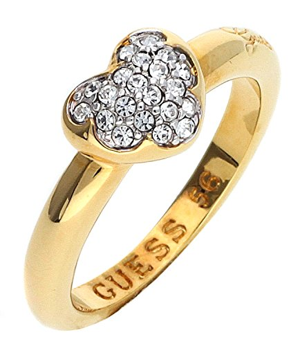 Guess Damen-Ring HEARTSHELTER Kristall weiß Gr. 54 (17.2)-UBR72502-54