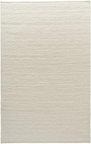 TISCA Teppich aus Schurwolle NEO wollweiss (Verschiedene Größen) 140 x 190 cm