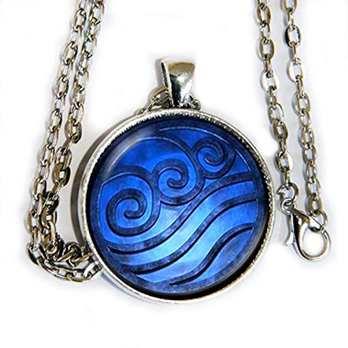 Avatar The Last Airbender Water inspired symbol pendant necklace - HM