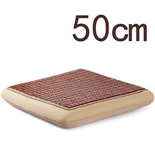 XMZDDZ dikker ademend zomer slaapmat bamboe stoel kussen, Office auto geheugen katoen tuinstoel pad wasbaar yoga vloer 50x50cm(20x20inch) F