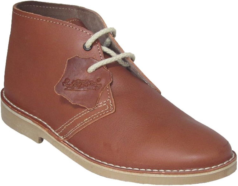 La Auténtica K100FPN - Desert Boot Italian tip Leather, Unisex Adult, Light Brown napa
