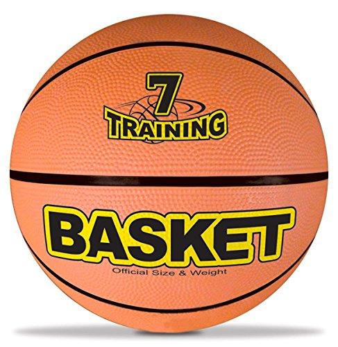 Mondo Toys - Basketball pallone da basket TRAINING per bambini - superficie morbida - Size 7 - colore arancione - 13041