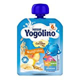 Nestlé Yogolino Postre lácteo Bolsitas con Multifrutas y cereales - Para bebés a partir de 6 meses - Paquete de 16 unidadesx90g