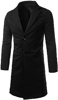 MogogoMen Fit Spring/Autumn Single-Breasted Overcoat Trench Coat