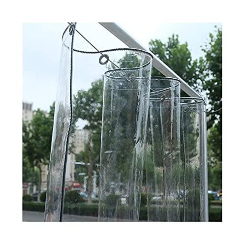 PLMOKN CLORURO DE POLIVINILO Tarpaulin, hoja transparente, impermeable, a prueba de polvo, con manga de protección de umbral, para balcón, protección de la lluvia, cubierta de muebles (color: claro, t