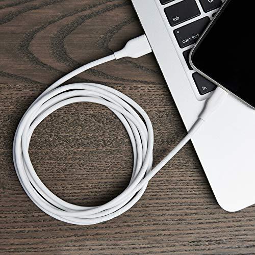 Amazon Basics – Verbindungskabel Lightning auf USB-A, MFi-zertifiziertes Ladekabel für iPhone, weiß, 1,82 m