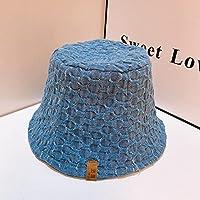 ネットレッドレトロプレキシムカプセル春と夏の帽子ファッションバケツキャップ香港スタイルの漁師帽子潮の人々-青い樽_M(56~58cm)