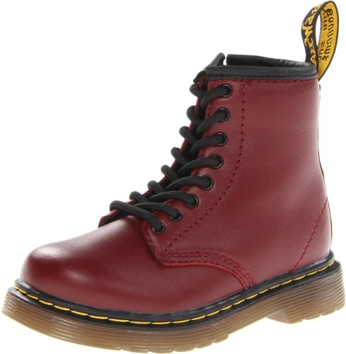 Dr. Martens Brooklee Softy T Cherry Red Lace Bootsschuhe, Unisex-Kinder, Rot - Rosso Black - Größe: 19 EU