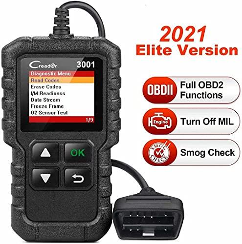 LAUNCH - Máquina de diagnosis Creader 3001 OBD2, para vehículos, para el control de la luz de avería del motor, el sistema de sensores O2 y el OBD, lector de código, herramienta de escaneo