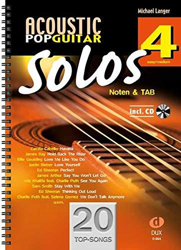 Acoustic Pop Guitar Solos 4: Noten & TAB - easy/medium
