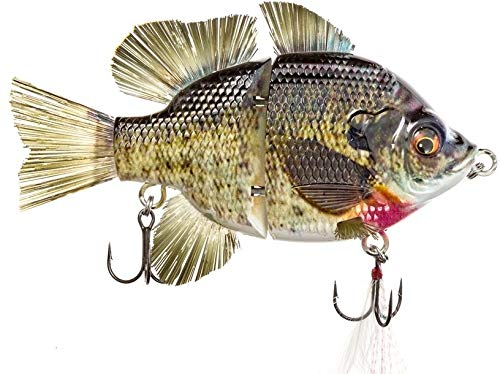 4.5' RF Gillman Glide Bait Bass Musky Striper Fishing Big Lure Multi Jointed Shad Trout Kits Slow Sinking or Floating (4.5' Male Bluegill Sink)